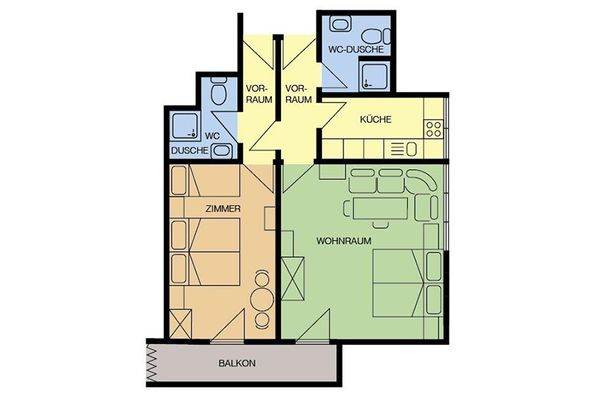 Apartment type B in apartment house